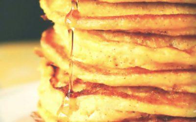 Mes Pancakes à la vanille et sucre de canne et Stévia de Pure Via