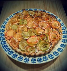 Tarte aux pommes bouquet de roses de Framboize.