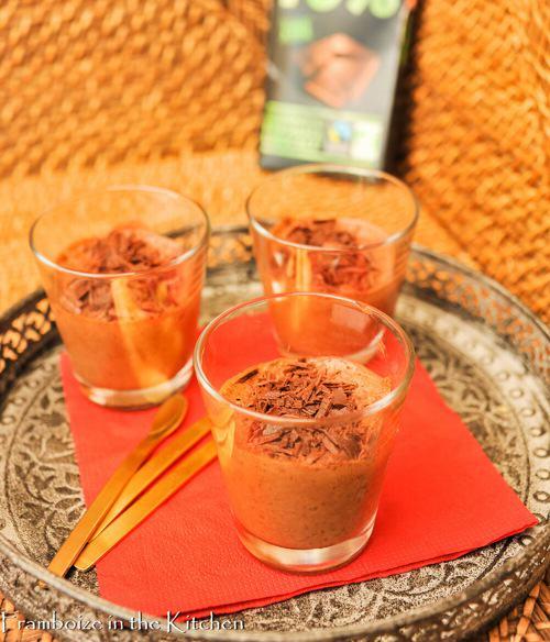 Mousse au chocolat sans sucre ajouté