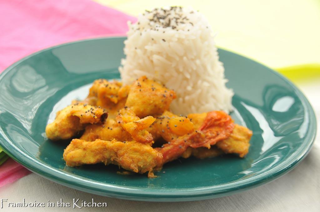 Poulet au curry et lait de coco l actifry framboize in the kitchen - Poulet au curry lait de coco ...