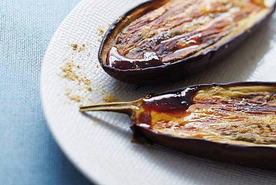 Aubergines grillées et chicorée Leroux