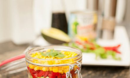 Corn salad in jar