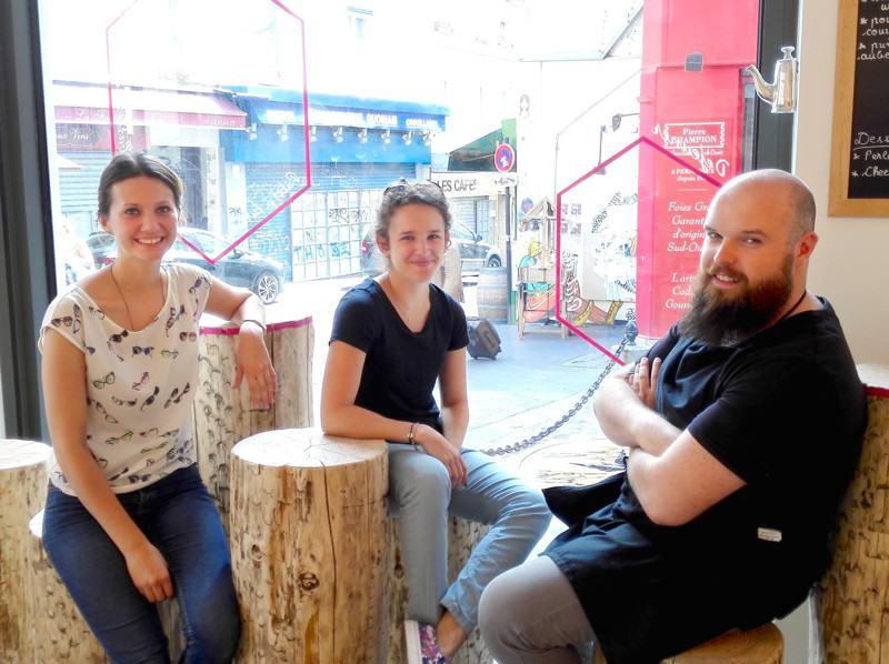 Joséphine, Justine et Quentin = l'équipe du Sweet Spot