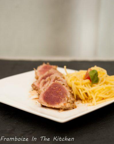 Tataki de porc ma fa on framboize in the kitchen - Comment cuisiner un filet mignon de porc ...