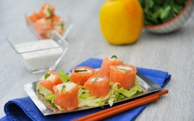 Roulé de saumon aux pommes Tentation