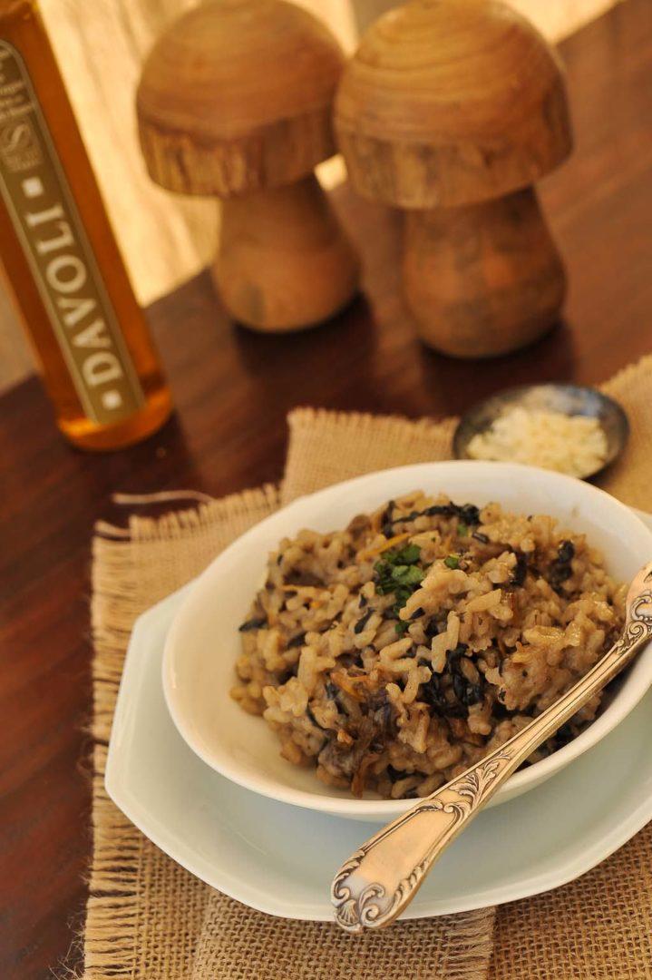 risotto champignons et huile de truffe