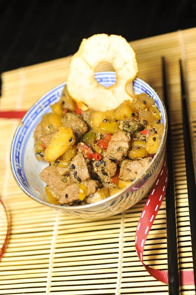 wok aigre doux aux pommes tentation