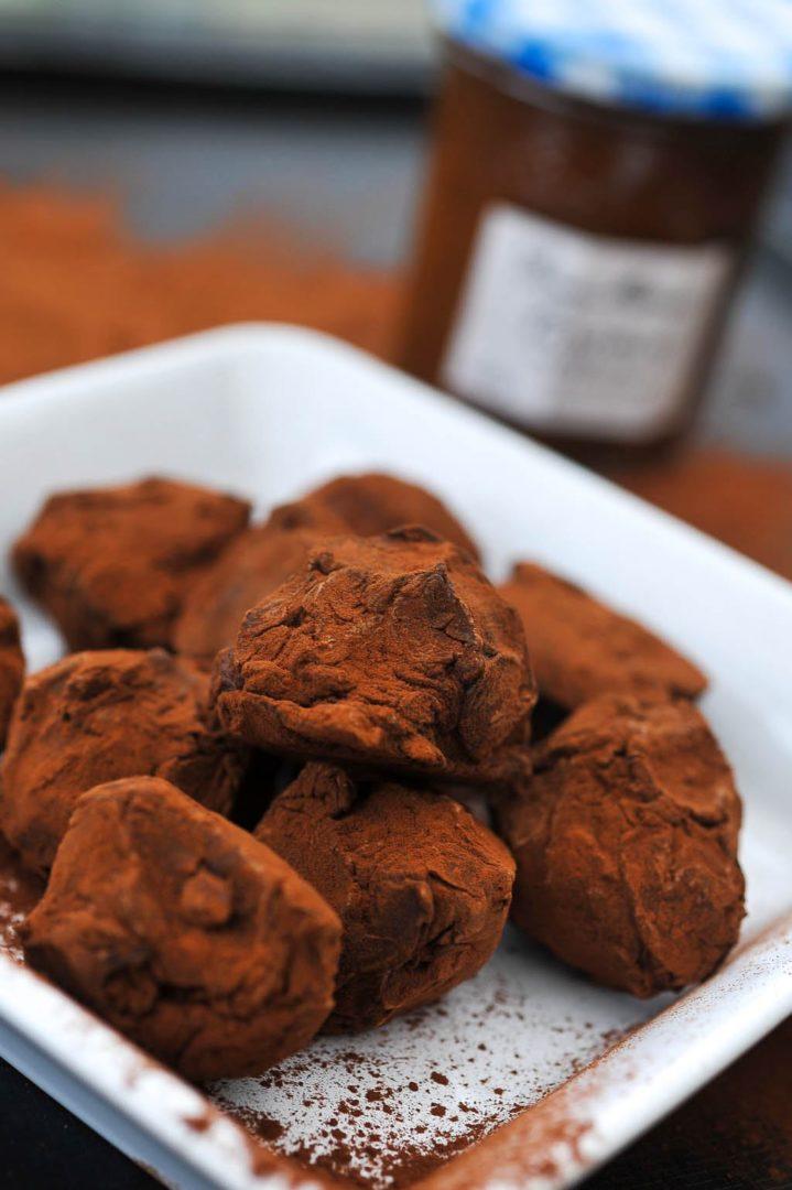 Truffes chocolat caramel praliné