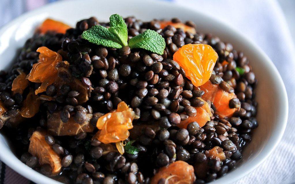 Salade de lentilles et de clémentines Corse