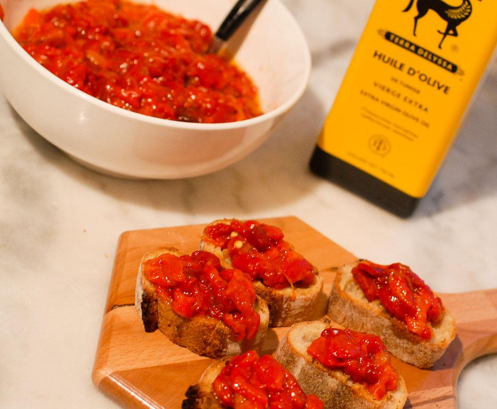 Salade de poivrons grill s framboize in the kitchen - Salade de poivrons grilles ...