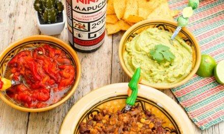 Chile con Carne et vin Chilien Las Niñas, Mapuche