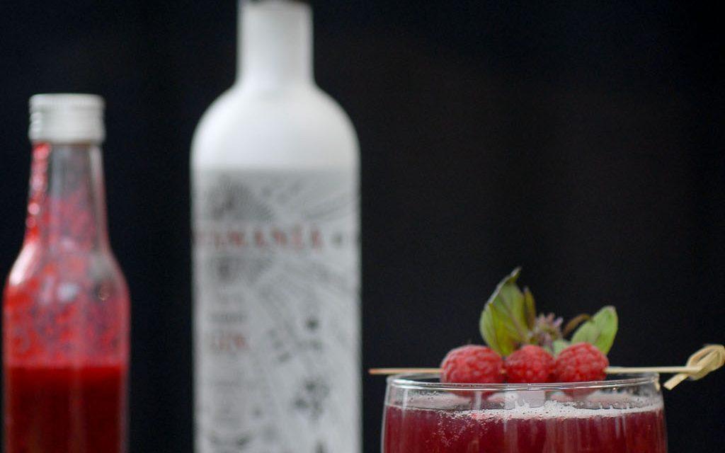 Cocktail, Gin Tonic Framboises
