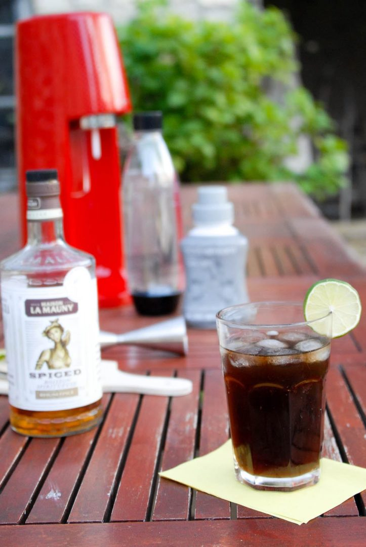 Cuba libre, rhum Lamauny et Cola Sodastream