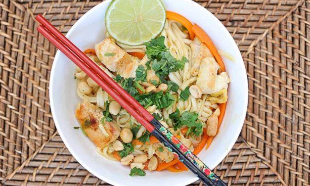 Pad Thai au poulet gingembre et Coeur de Bouillon Maggi