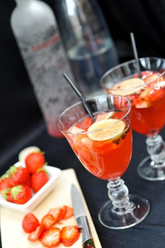 Gin tonic et fraises