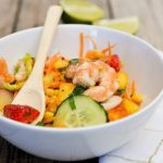 Thai corn and shrimp salad