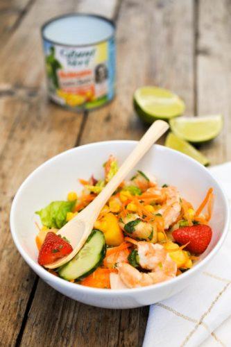 Populaire Salade thaï maïs et crevettes - Framboize in the kitchen NX61