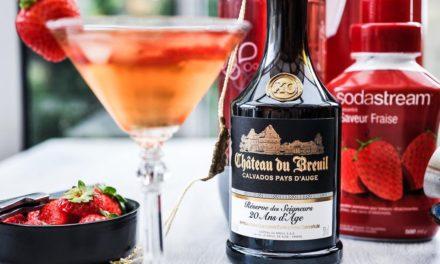 Cocktail : Calva fraise avec en plus la visite de la distillerie de Calvados du Château du Breuil.