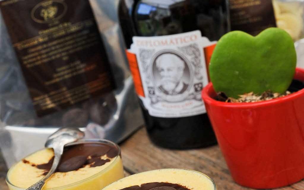 Mousse au chocolat Vénézuelien El Rey et rhum Diplomatico