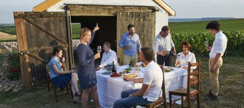 lenoble, champagne dans les vignes