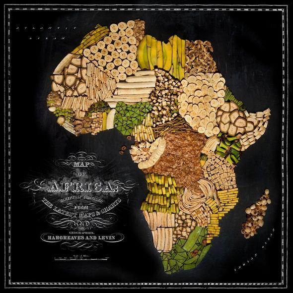 Nouriture-carte-Afriqe