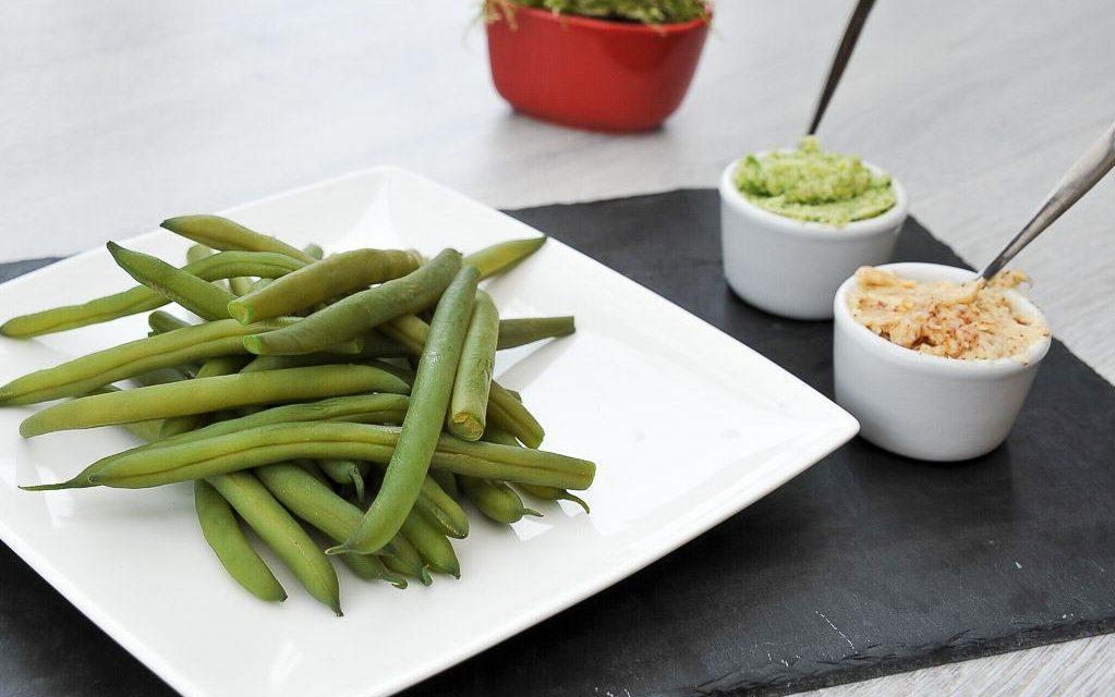 Beurre d'ail et beurre aux piment d'Espelette pour haricots verts