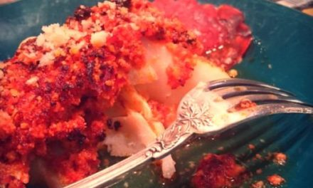 Dos de Cabillaud grillé au chorizo et parmesan #cadeau inside # Concours Terminé#