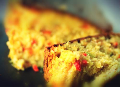 Cake au thon et poivrons rouges