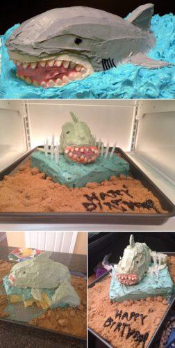 Gâteau requin raté
