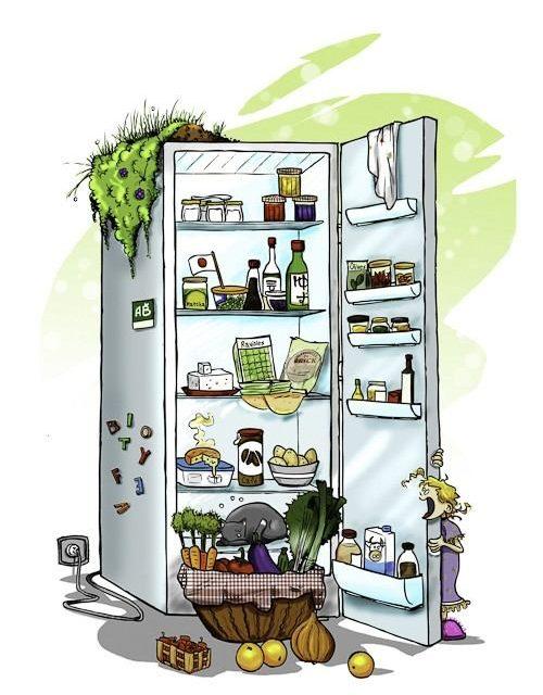 Ranger ses aliments dans réfrigérateur.