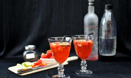 Cocktail : Gin tonic à la fraise