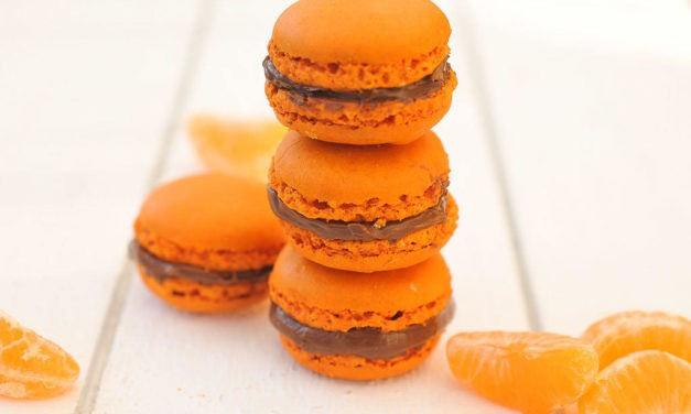 Macaron clémentine corse et chocolat