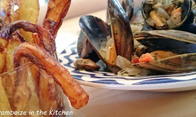 Mes moules marinière et frites maisons