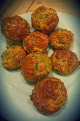 Les muffins au saumon fumé