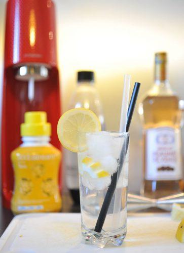 Cocktail Muscat fizz, avec l'aide de la Sodastream Spirit
