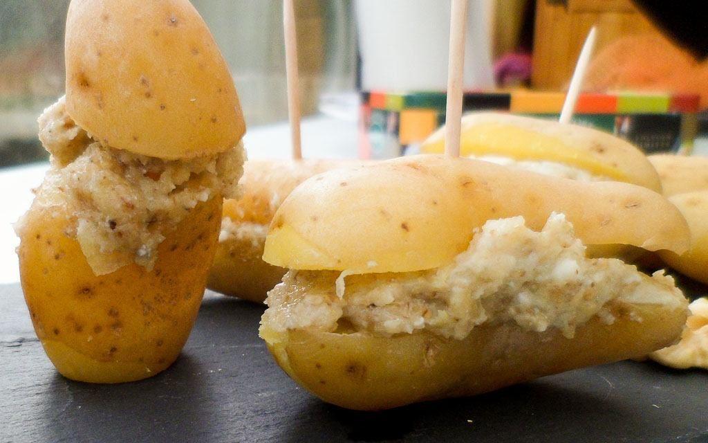 Bouchées de Ratte du Touquet au Roquefort