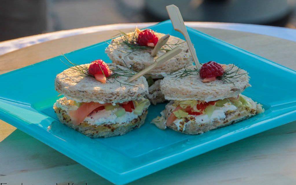 Mini sandwich saumon et fromage fouetté de Mme Loïk