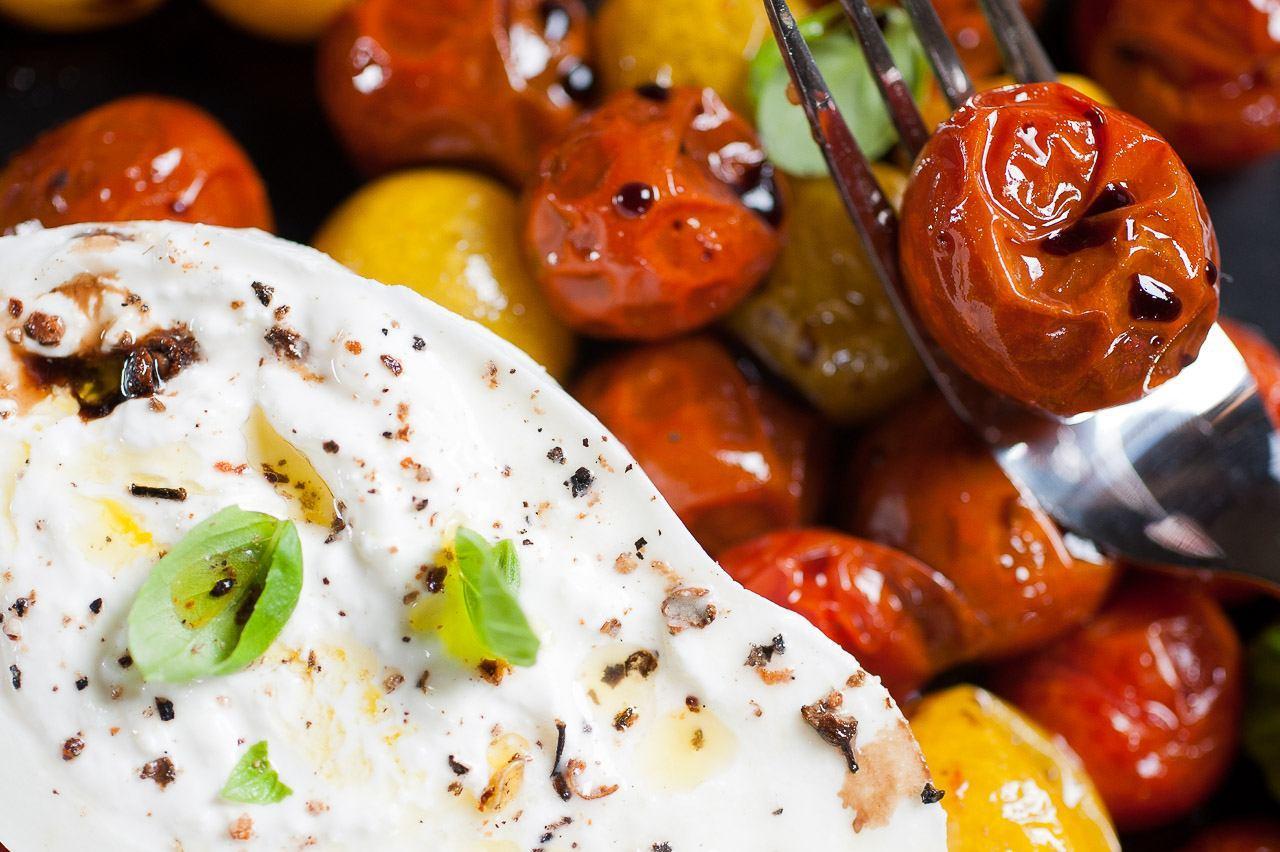 tomates cerises et mozzarella
