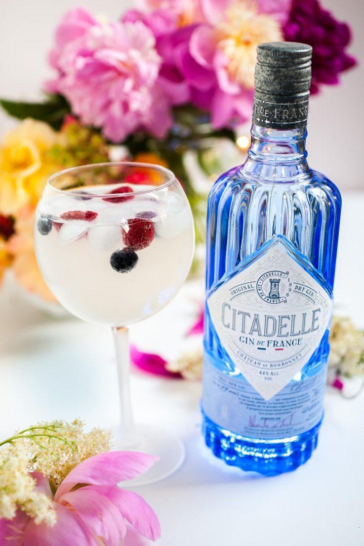 Gin tonic citadelle et sirop de sureau