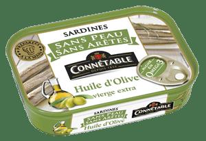 Connétable, sardines sans peau ni arete