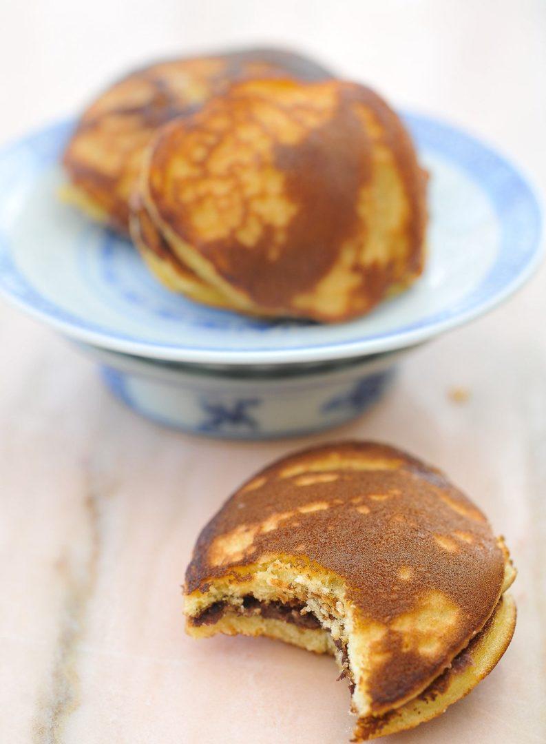 délicieux Dorayakis gateaux japonnais à la plancha
