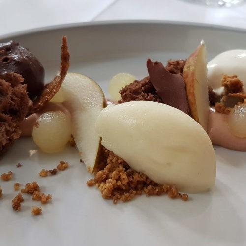 La poire du Tremblay version Belle Hélène, dessert du chateau de candie