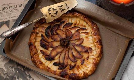 Tarte rustique aux pommes Tentation et sirop de bergamote