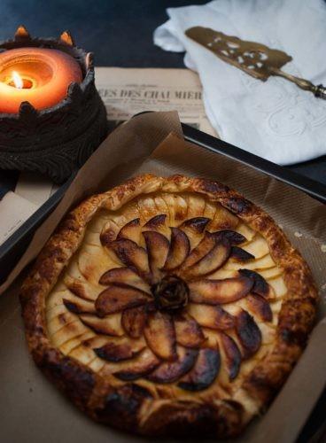 Ma tarte rustique pomme tentation bergamote