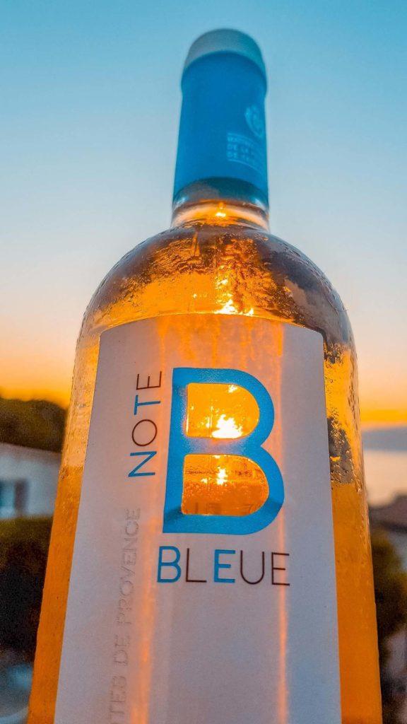 Vin rosé Note Bleue maitres vignerons saint tropez-