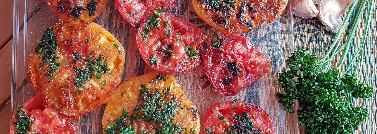 Tomates grillées à la Plancha