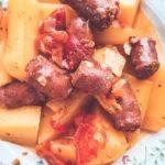 Merguez et pommes de terre au Cookéo