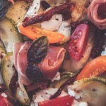 Salade de courgette crue, ricotta, et jambon italien