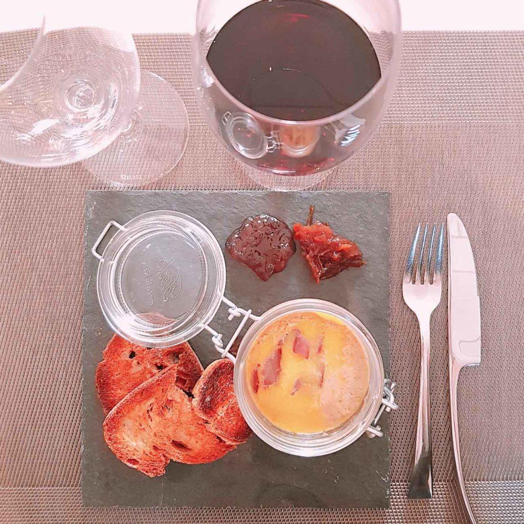 Marbré de foie gras aux cèpes, Château Marquis de Terme, oenotourisme Margaux