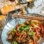 Wok de boeuf façon asiatique et accord vin Madiran Maestria Plaimont Producteurs